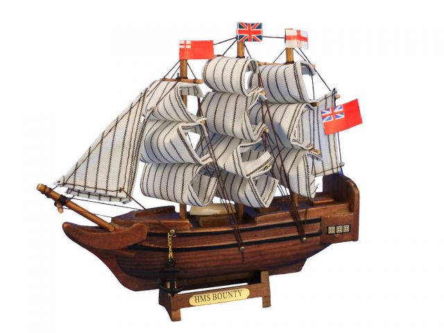 Wooden HMS Bounty Tall Model Ship 7