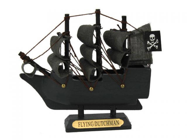Wooden Flying Dutchman Model Pirate Ship 4
