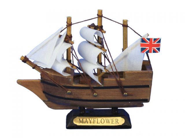Wooden Mayflower Tall Model Ship 4