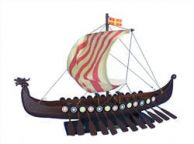 Wooden Viking Drakkar Model Boat 24\