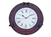 Antique Copper Deluxe Class Porthole Clock 12\