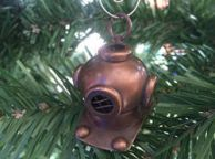 Antique Copper Diving Helmet Christmas Ornament 5
