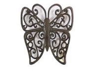 Cast Iron Butterfly Trivet 8\