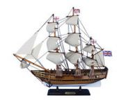 Wooden Charles Darwins HMS Beagle Tall Model Ship 20
