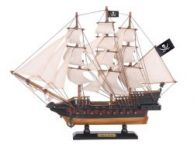 Wooden Caribbean Pirate White Sails Limited Model Pirate Ship 15\