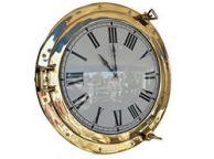 Brass Deluxe Class Porthole Clock 20