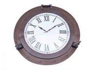 Bronzed Deluxe Class Porthole Clock 24
