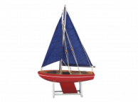 Wooden Decorative Sailboat Model American Anchor 12