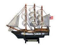 Wooden USS Constitution Tall Model Ship 7