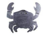 Antique Silver Cast Iron Crab Trivet 11