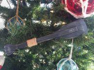 Wooden Rustic Seaside Decorative Squared Boat Oar Christmas Ornament 12