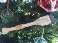 Wooden Winthrop Decorative Squared Rowing Boat Oar Christmas Ornament 12