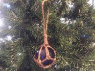 Blue Japanese Glass Ball Fishing Float Decoration Christmas Ornament 2