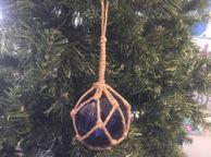 Blue Japanese Glass Ball Fishing Float Decoration Christmas Ornament 4