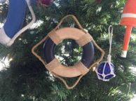 Antique Blue And White Decorative Lifering Christmas Ornament 6