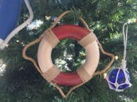 Antique Red And White Decorative Lifering Christmas Ornament 6