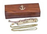 Solid Brass/Copper Bosun Whistle 6\