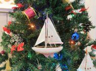 Pink Sailboat Christmas Tree Ornament 9