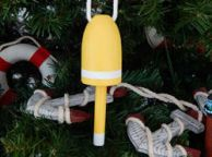 Wooden Yellow Lobster Buoy Christmas Tree Ornament