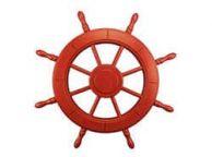 Red Decorative Ship Wheel 24