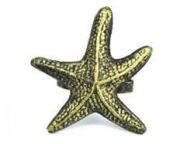 Antique Gold Cast Iron Starfish Napkin Ring 3\