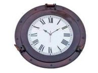 Antique Copper Decorative Ship Porthole Clock 17\