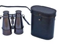 Captain\'s Oil-Rubbed Bronze Binoculars with Leather Case 6\