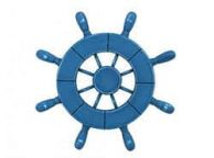 Rustic All Light Blue Decorative Ship Wheel 9\