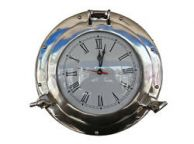 Chrome Decorative Ship Porthole Clock 12\