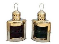 Solid Brass Port and Starboard Oil Lantern 17
