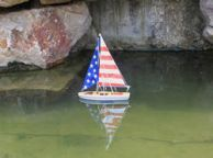 Wooden It Floats 12 - USA Floating Sailboat Model