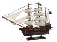 Wooden Black Barts Royal Fortune White Sails Pirate Ship Model 20