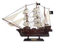 Wooden Caribbean Pirate White Sails Model Ship 15