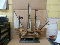 Wooden Caribbean Model Pirate Ship 20\