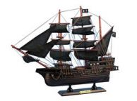 Wooden Black Barts Royal Fortune Model Pirate Ship 15
