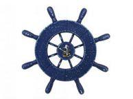 Rustic All Dark Blue Decorative Ship Wheel Seagull 9