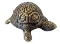 Antique Gold Cast Iron Turtle Paperweight 5\