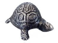 Antique Silver Cast Iron Turtle Paperweight 5\