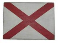 Letter V Rustic Wooden Nautical Alphabet Flag Decoration 16