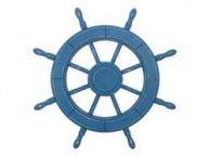 Rustic All Light Blue Decorative Ship Wheel 24\