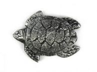 Antique Silver Cast Iron Decorative Turtle Bottle Opener 4
