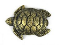 Antique Gold Cast Iron Decorative Turtle Bottle Opener 4