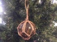 Amber Japanese Glass Ball Fishing Float Decoration Christmas Ornament 3