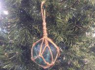 Light Blue Japanese Glass Ball Fishing Float Decoration Christmas Ornament 3