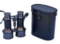 Commanders Oil-Rubbed Bronze With Leather Binoculars with Leather case 6\