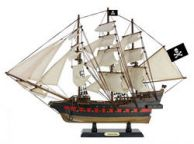 Wooden Caribbean Pirate White Sails Limited Model Pirate Ship 26\