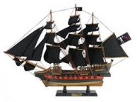 Wooden Blackbeard\'s Queen Anne\'s Revenge Black Sails Limited Model Pirate Ship 26\