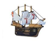Wooden Santa Maria Tall Model Ship Magnet 4