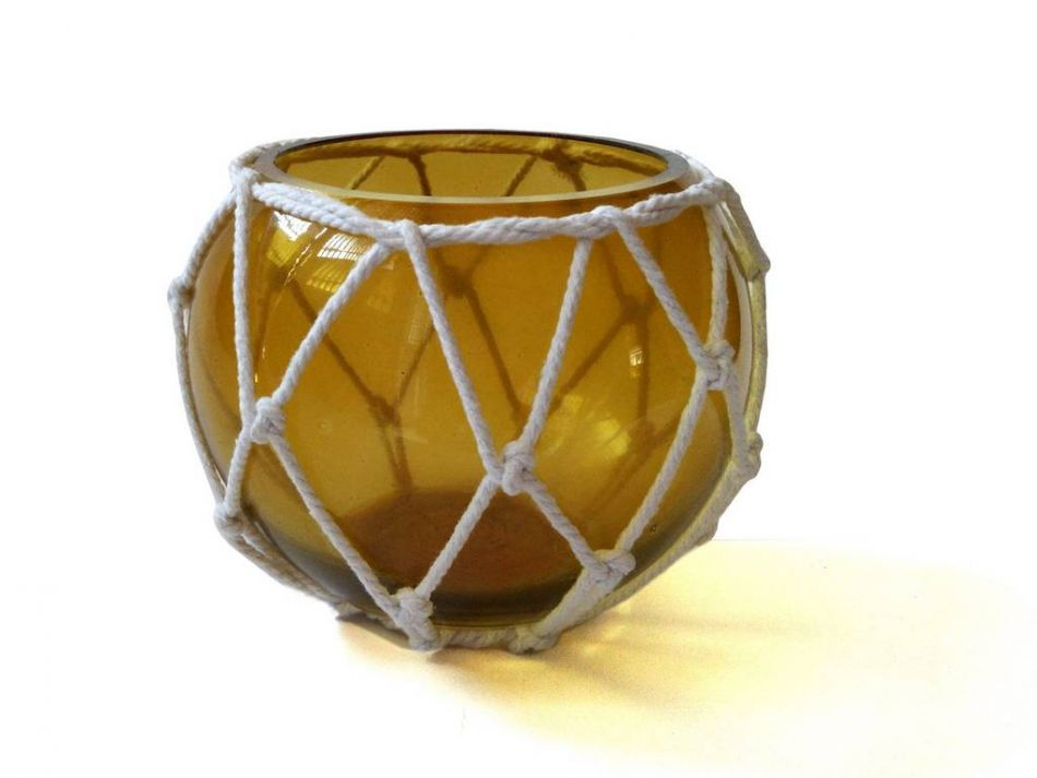 Buy Amber Japanese Glass Fishing Float Bowl with ...