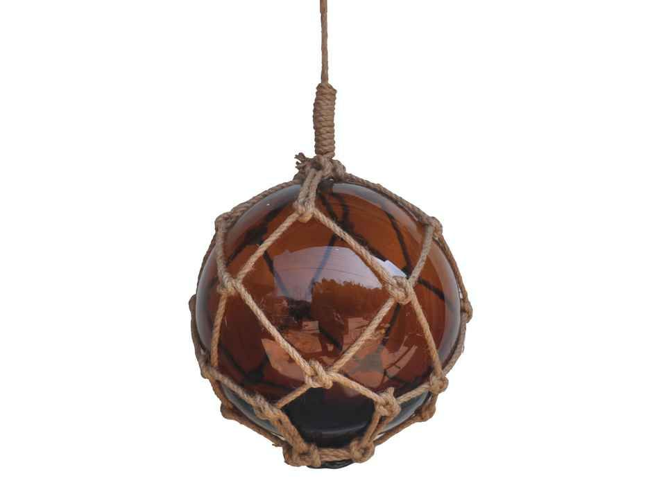 Wholesale Amber Japanese Glass Ball Fishing Float With ...